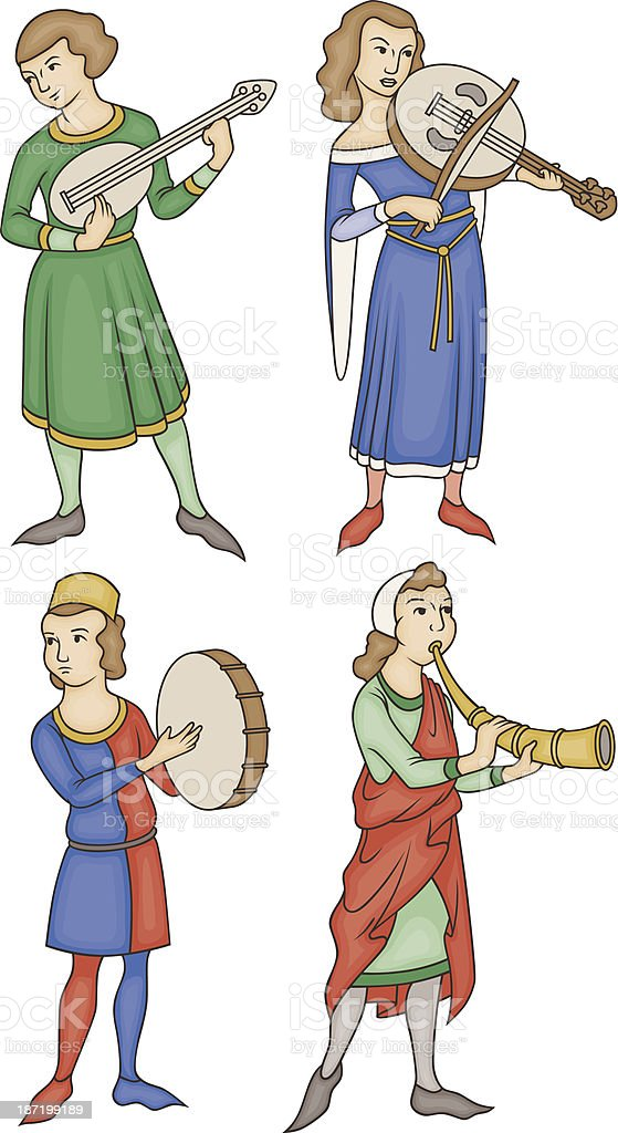 Medieval Musicians royalty-free medieval musicians stock vector art & more images of brass instrument