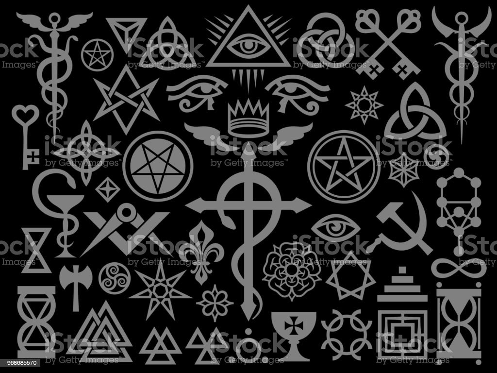 Medieval Occult Signs And Magic Stamps Sigils Locks Knots Mystic