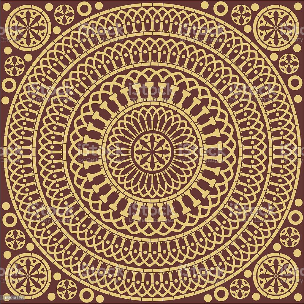 Medieval Pattern Tile royalty-free stock vector art