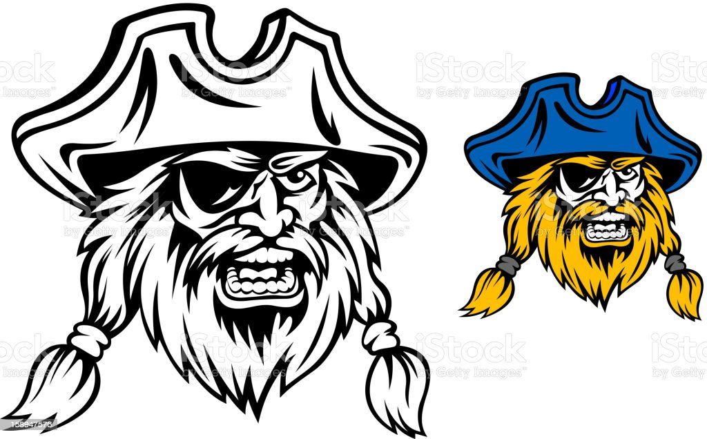 Medieval pirate royalty-free stock vector art