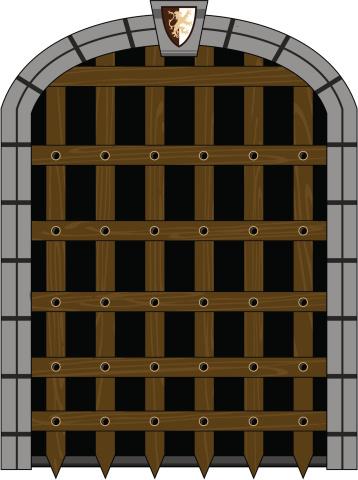Medieval Portcullis Style Gate