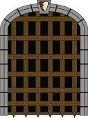 Medieval Portcullis Style Gate