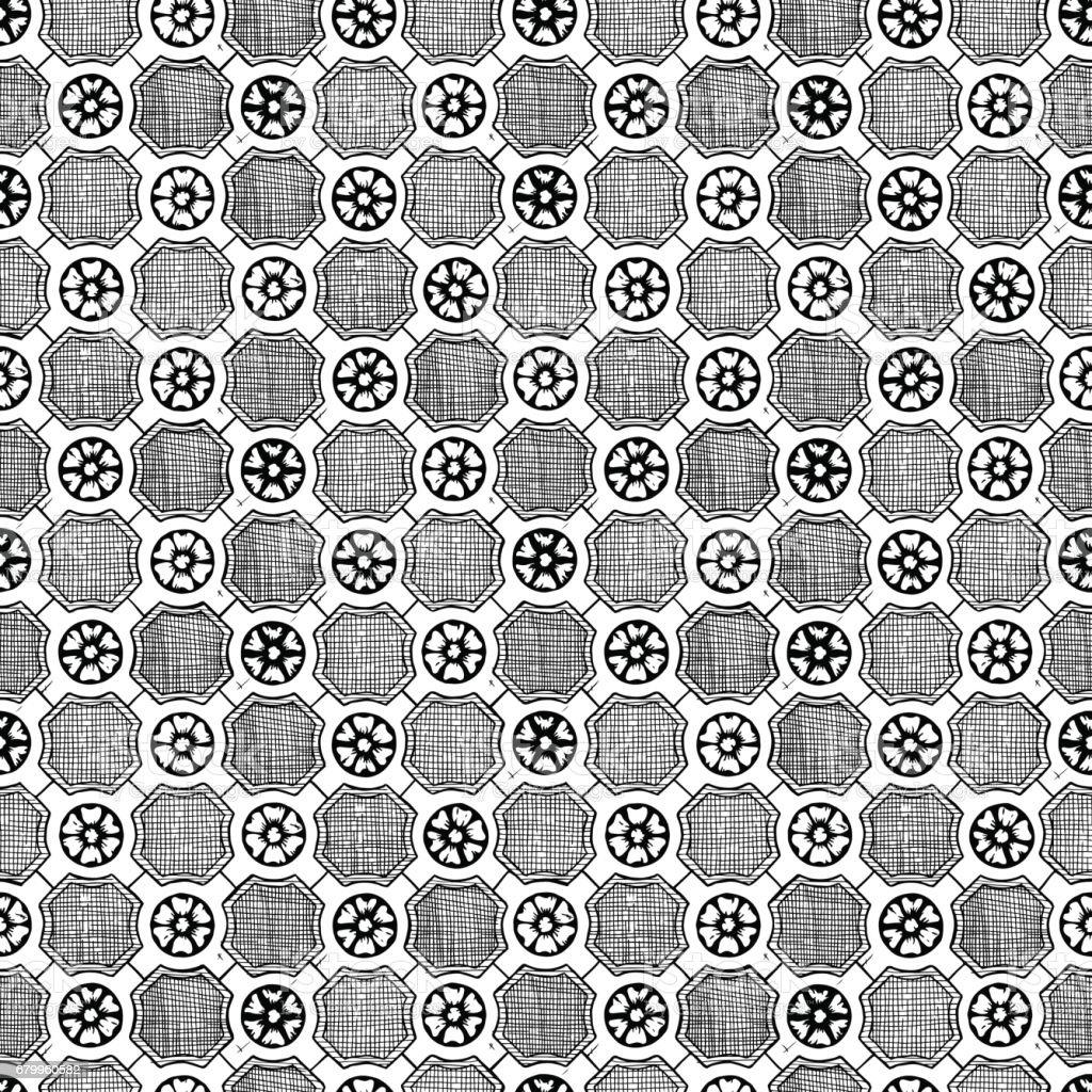 Medieval seamless pattern vector art illustration