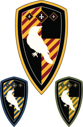 Medieval Shield with Raven & Fleur De Lys