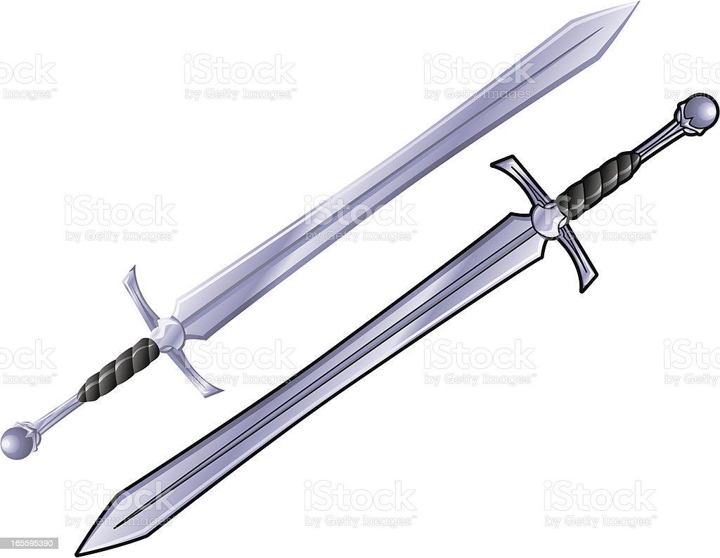 Medieval Sword vector art illustration