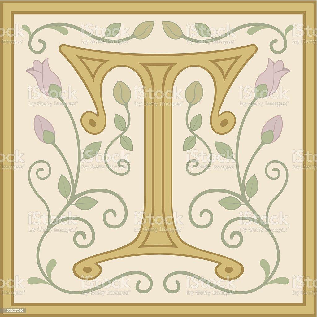 Medieval Twist T vector art illustration