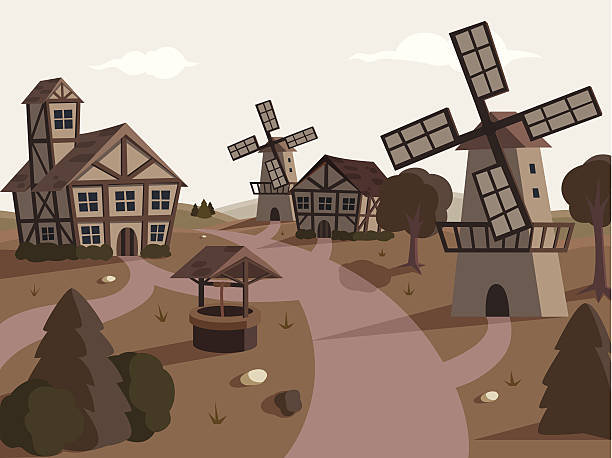 Medieval style stock illustrations