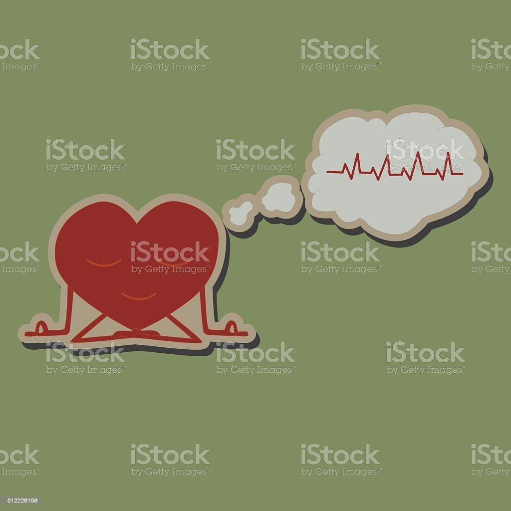 Medite Corazón Etiqueta Engomada - Arte vectorial de stock y más ...