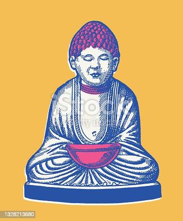istock Meditating Buddha 1328213680