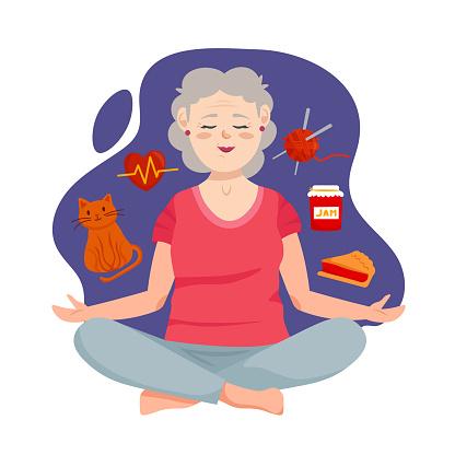Meditating Grandmother