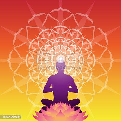 istock Meditation Aura Background 1092655508