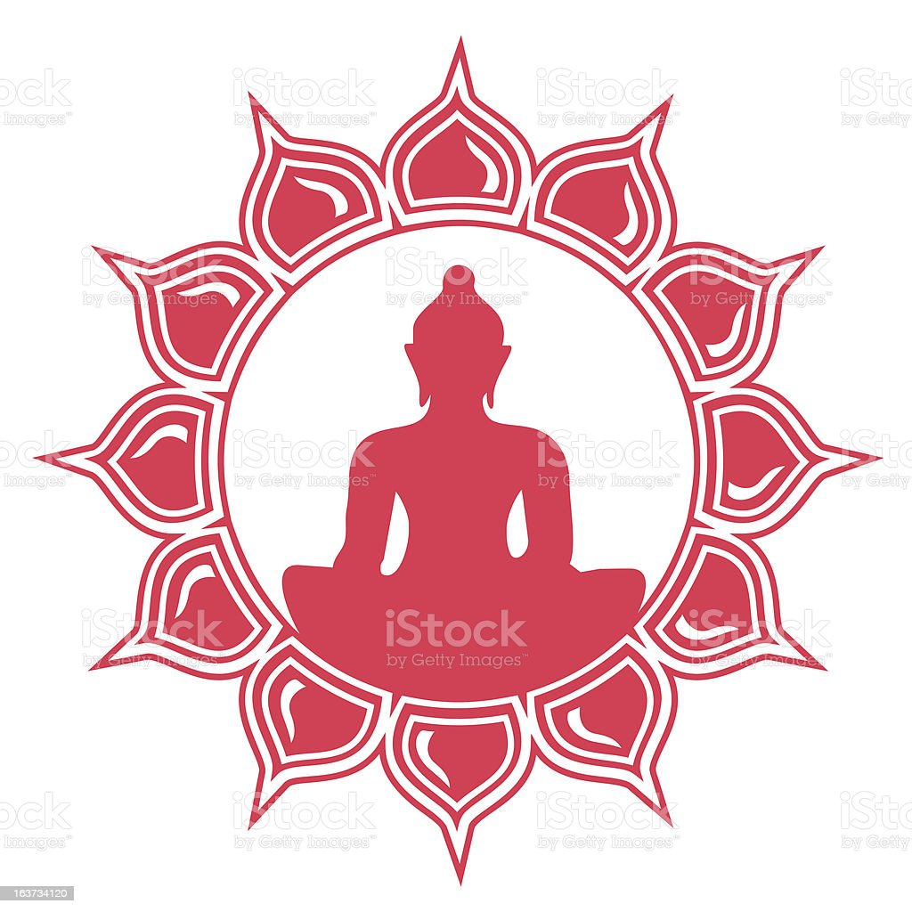 Meditation - Buddha, Lotus Flower royalty-free meditation buddha lotus flower stock vector art & more images of abstract