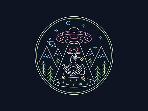 Meditation Elevation vector illustration