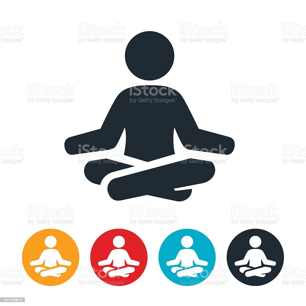Meditation Icon vector art illustration