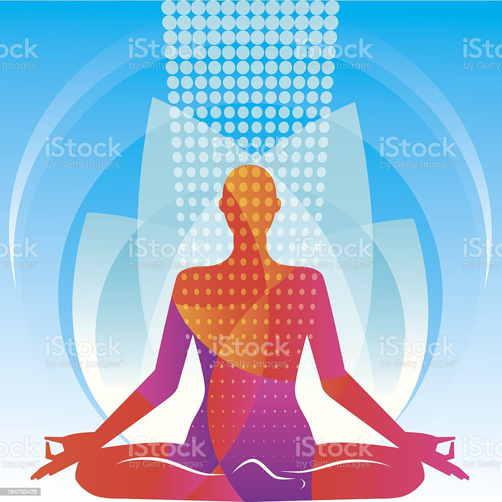 Meditation in a lotus pose. Vector illustration royalty-free meditation in a lotus pose vector illustration stock vector art & more images of adolescence