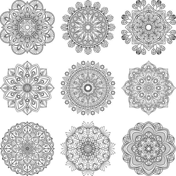 royalty free mandala clip art vector images illustrations istock