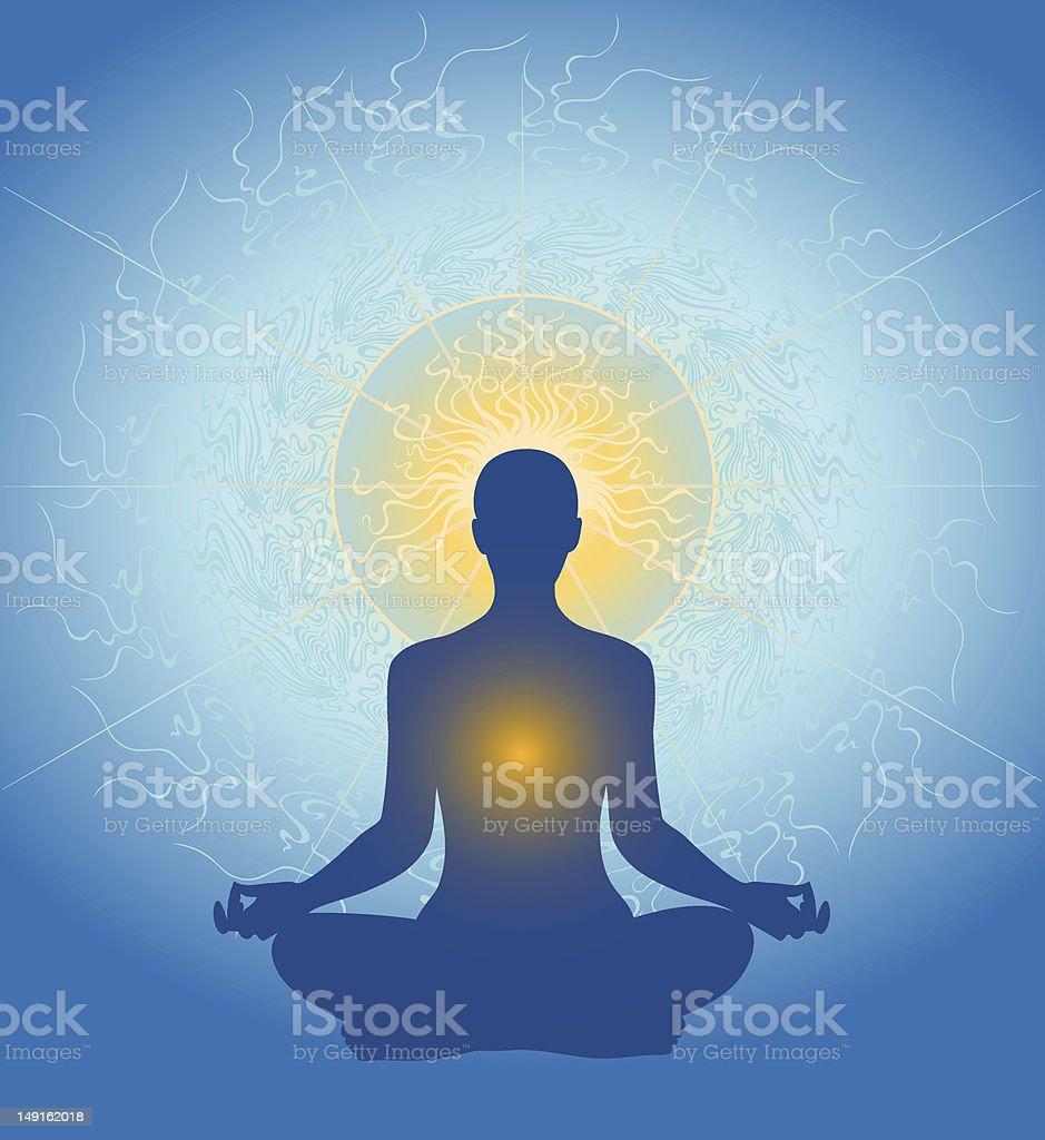 Meditation – Vektorgrafik