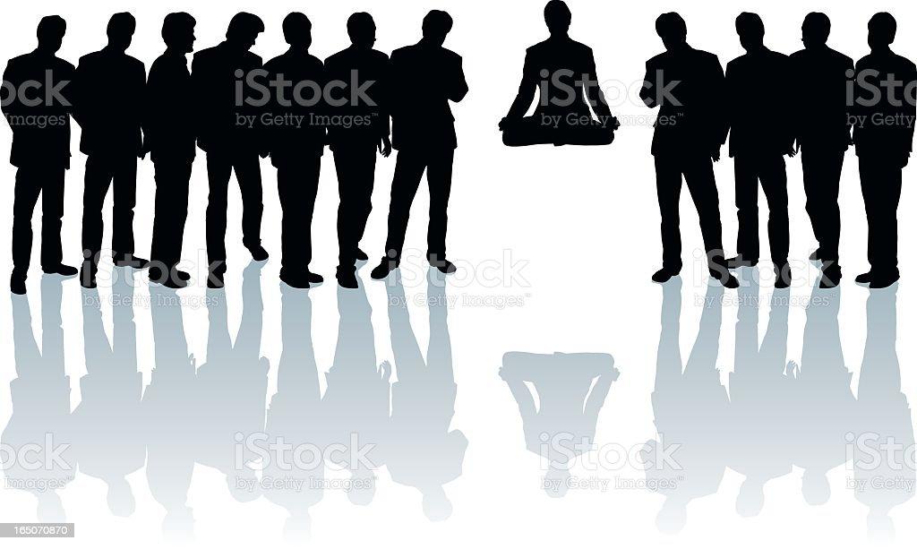 Meditation royalty-free stock vector art