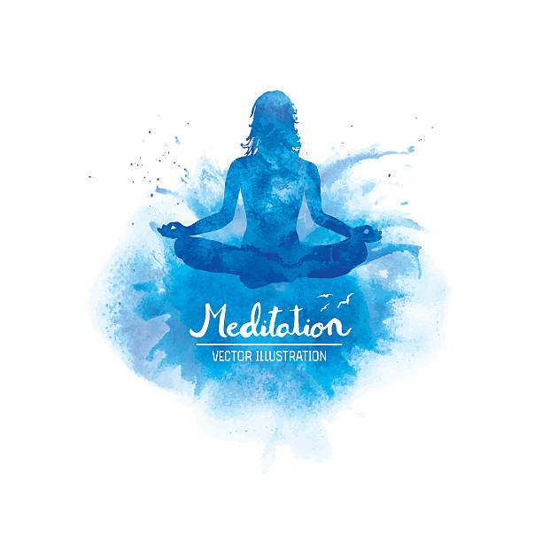 meditation - yoga stock illustrations, clip art, cartoons, & icons