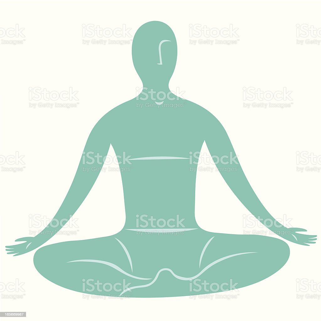 Meditator vector art illustration