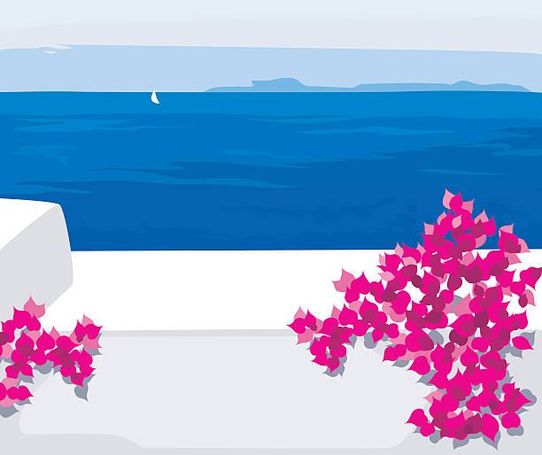 Entorno mediterráneo - ilustración de arte vectorial