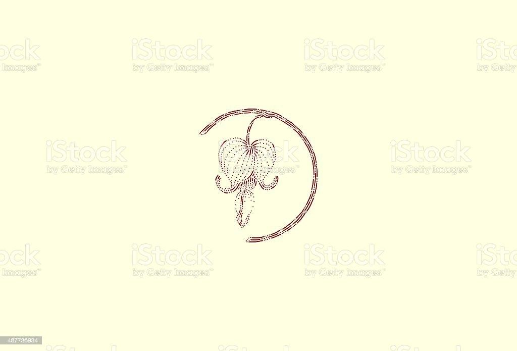 Medium bleeding heart vector art illustration