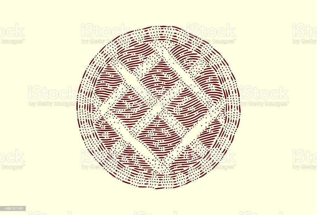 Medium crostata vector art illustration