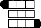 medium format film strip picture frames
