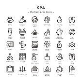 SPA - Medium Line Icons - Vector EPS 10 File, Pixel Perfect 30 Icons.