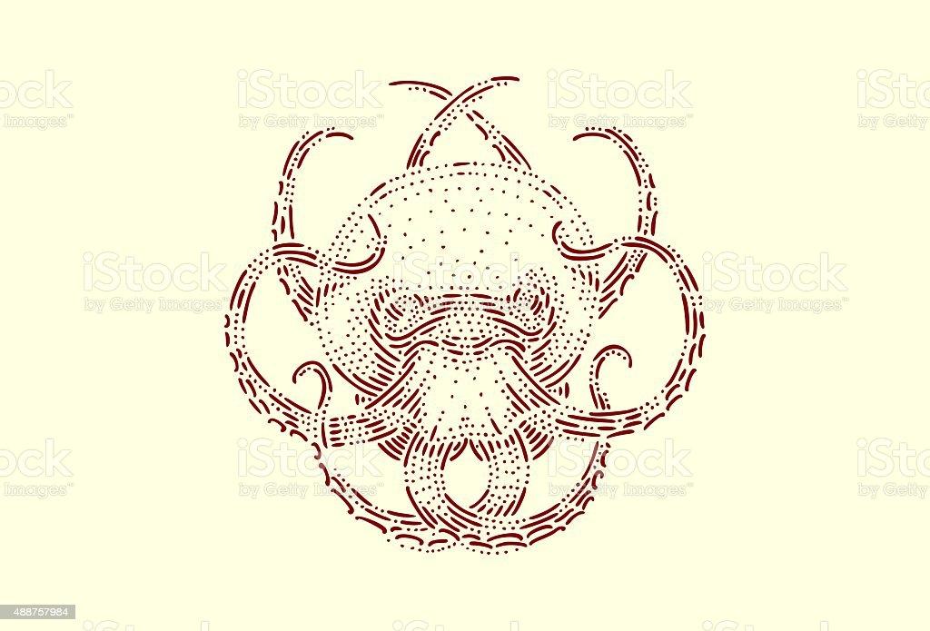 Medium octopus vector art illustration