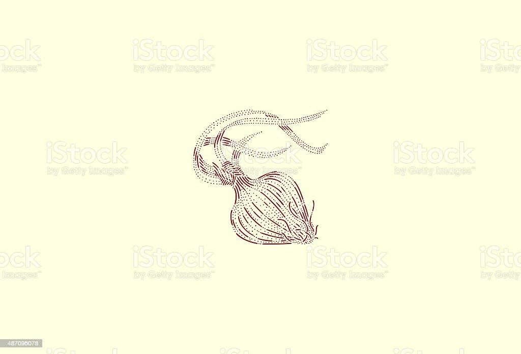 Medium red onion vector art illustration