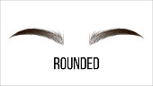 Medium Rounded Vector Hand Drawn Brows Shape