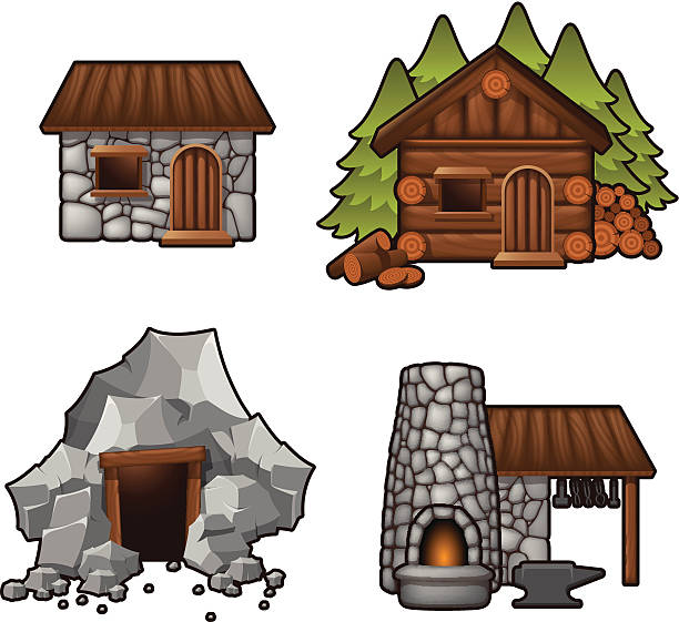 Royalty Free Cabin In The Woods Clip Art Vector Images