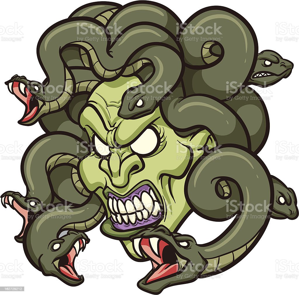 Medusa head vector art illustration