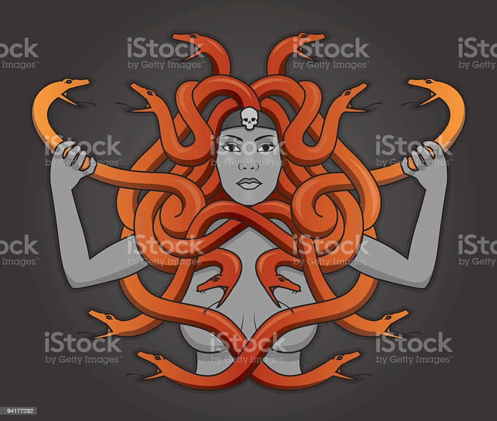 Medusa vector art illustration