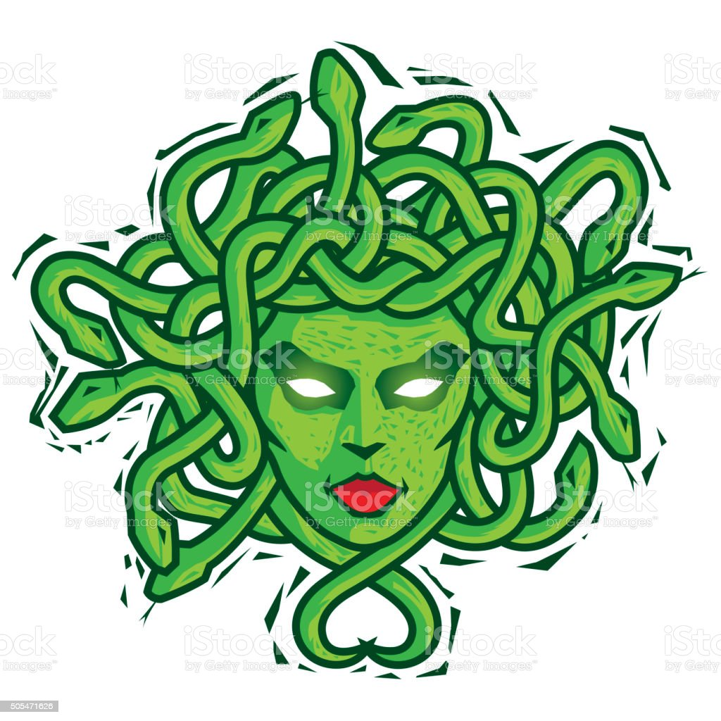 Medusa. Vector vector art illustration