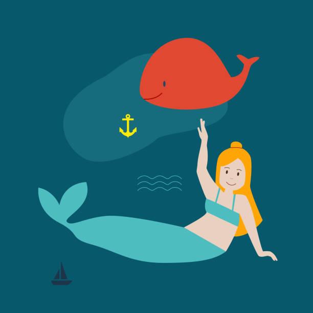 Meerjungfrau – Vektorgrafik