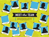 Vector illustration of a 'Meet the Team' concept template.