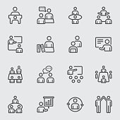 Meeting and Training line icon