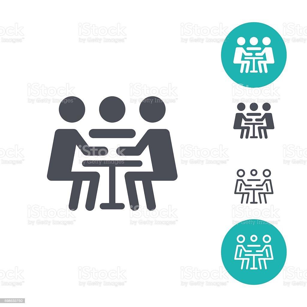 Icônes de réunion icônes de réunion – cliparts vectoriels et plus d'images de adulte libre de droits