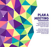 Meeting plan geometric polygon background illustration for marketing. Modern abstract vector illustration design for your business or campaign.
