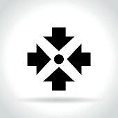 meeting point icon on white background
