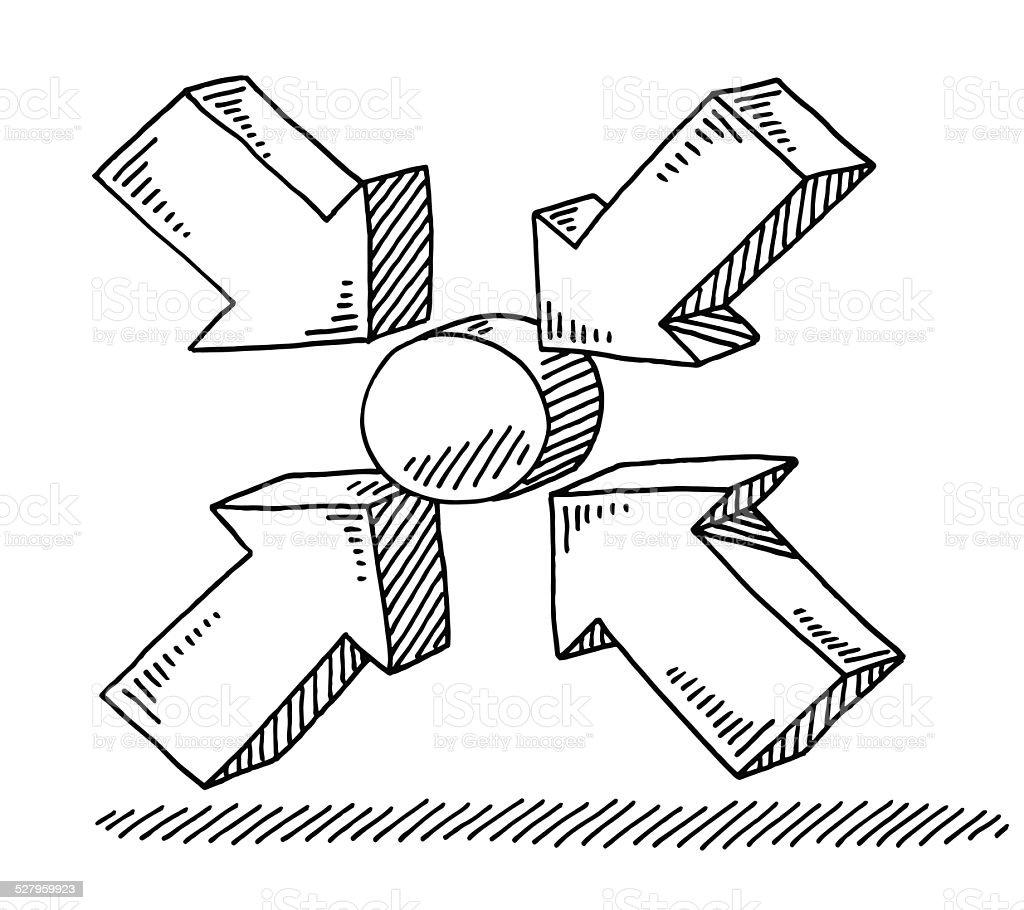 Meeting Point Symbol Drawing Stock Vector Art 527959923 Istock
