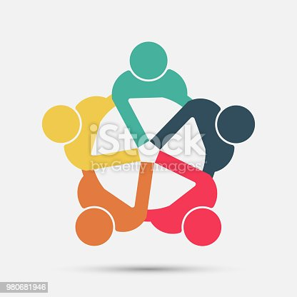 istock meeting room people logo.group of four persons in circle 980681946
