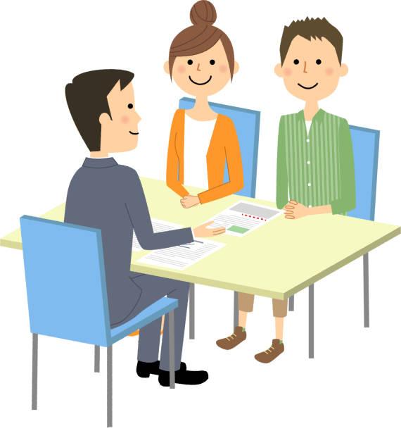 会議では、契約書に署名 - ビジネスマン 日本人点のイラスト素材/クリップアート素材/マンガ素材/アイコン素材