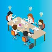 Meeting table Illustration