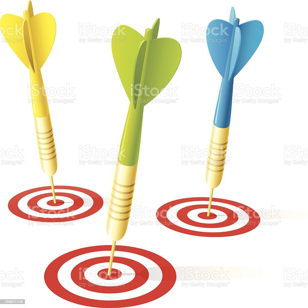 Meeting targets - Royalty-free Accuracy stock vector