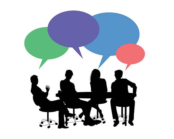ilustrações de stock, clip art, desenhos animados e ícones de hora de reunião - business meeting