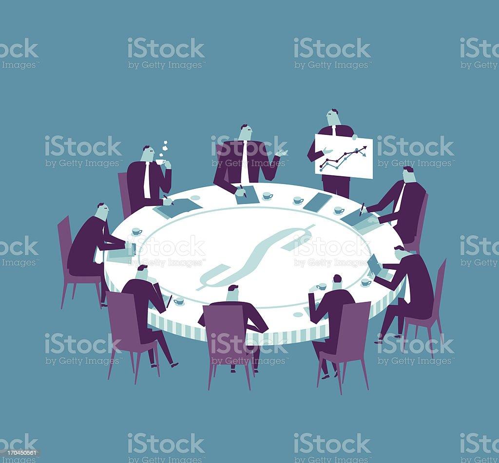 Meeting vector art illustration
