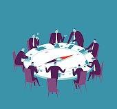 Vector illustration - Meeting